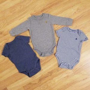 4/$20 or 2/$10 Three Baby Gap Bodysuits (3-6M)